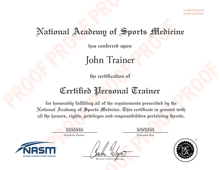 Certificación NASM
